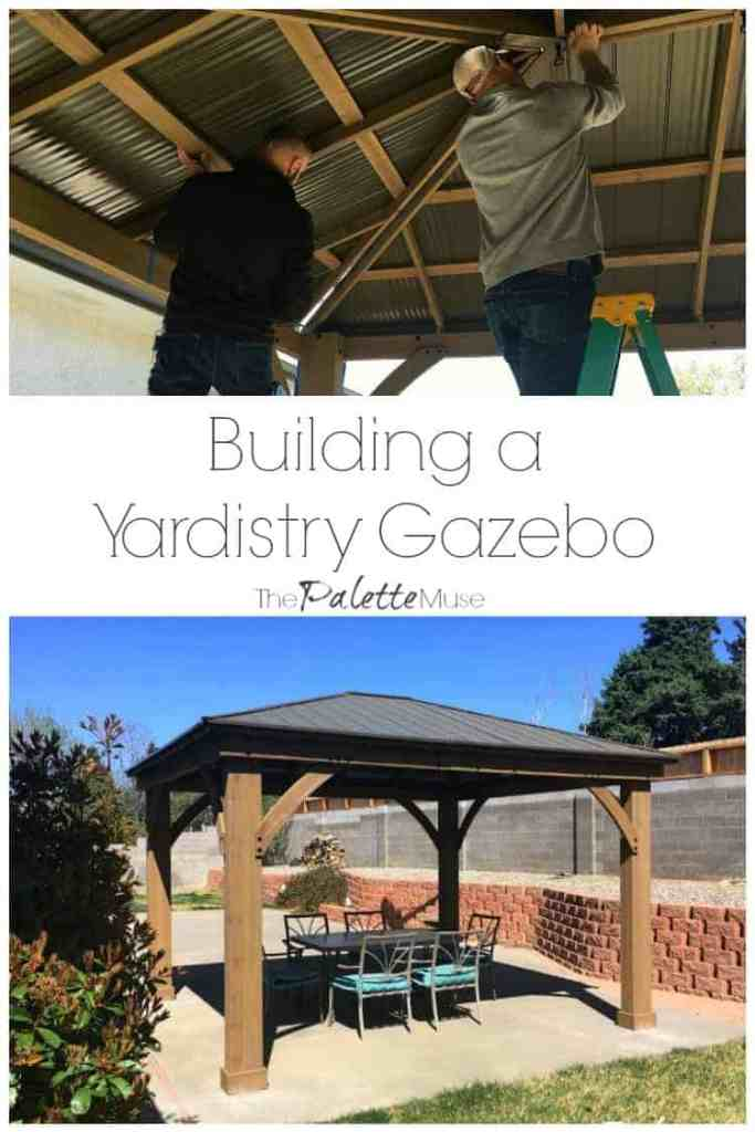 Building a Yardistry 12x14 Gazebo in our backyard