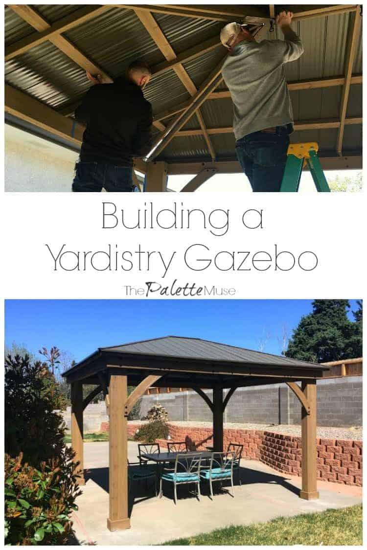 Vertical Garden Design With Gazebo Installation Building a Yardistry 12x14 Gazebo in our backyard