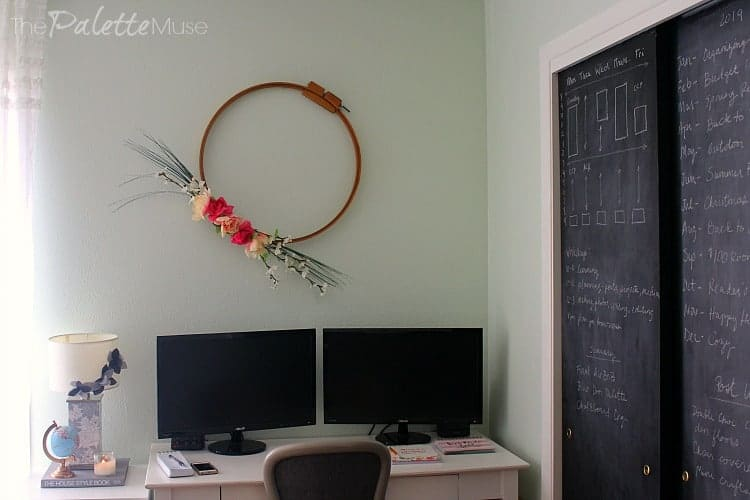 Convert your closet doors into a giant chalkboard!