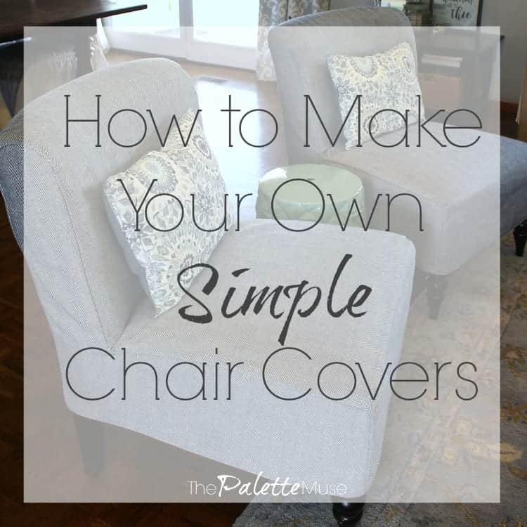 Groovy How To Make Your Own Simple Chair Covers The Palette Muse Machost Co Dining Chair Design Ideas Machostcouk