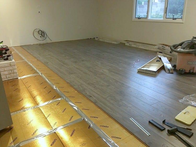 Pergo Waterproof Laminate Flooring and Pergo Gold underlayment