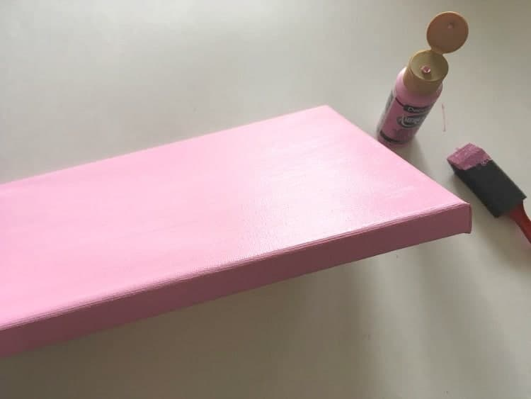 Don't forget to paint the edges of the canvas!