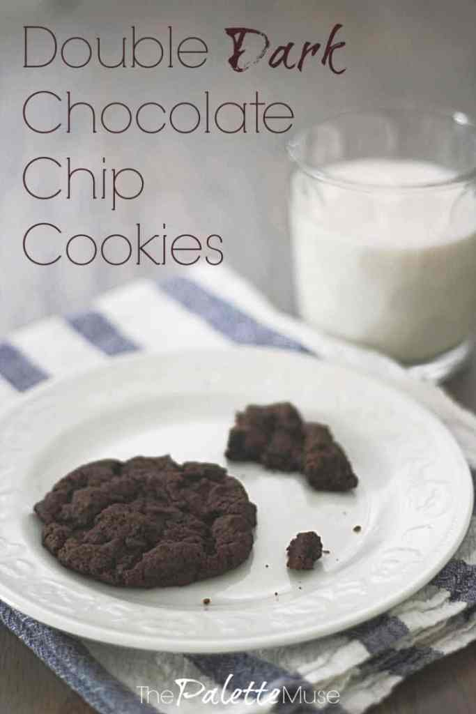 Can't get enough chocolate? These double dark chocolate chip cookies will get the job done. #chocolatechip #darkchocolate #glutenfreecookies