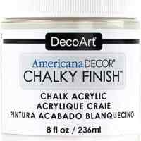 DecoArt Chalky Finish Paint: Everlasting White, 8 oz