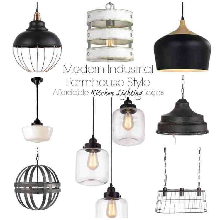 Selection of farmhouse style pendant lights.