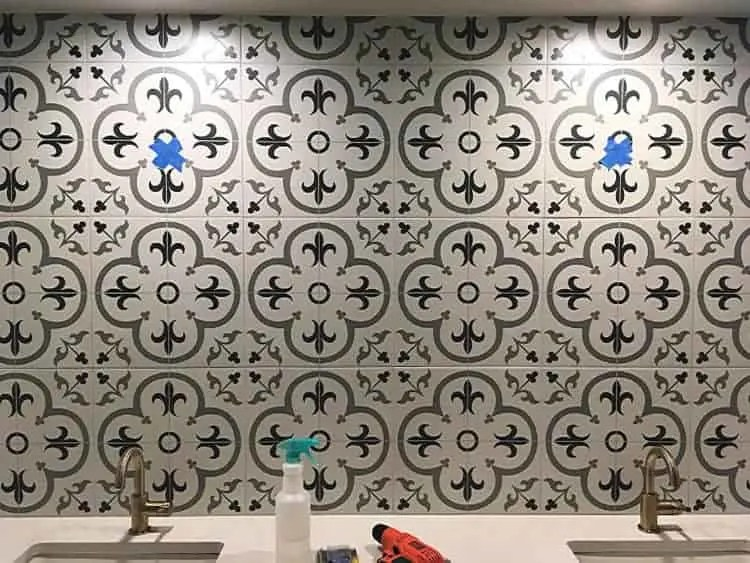 https thepalettemuse com how to hang mirrors on tile 3 ways a bonus