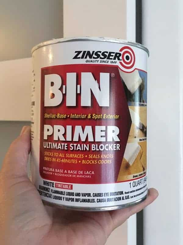 A can of Zinsser BIN primer