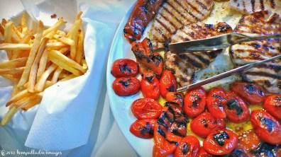 Grilled Pork, Peppers & Pomodorini | ©Tom Palladio Images