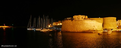 Castle fronting the Centro Storico of Gallipoli, Italy