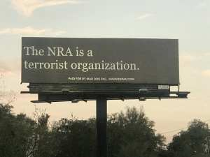 "Pensacola billboard: ""The NRA is a Terrorist Organization"""