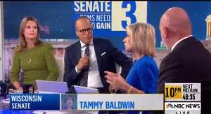 "NBC's Savannah Guthrie!""Maybe it's a red wave on the Senate side at least."""