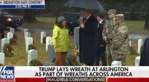 President Trump makes unexpected visit to Arlington National Cemetery to honor America's fallen