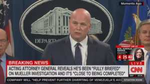 AG Whitaker says Mueller probe is close to being completed