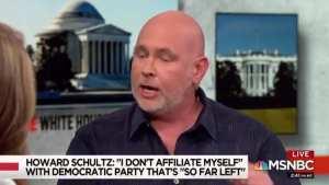 Lefties turn on Never Trumper Schmidt over Schultz