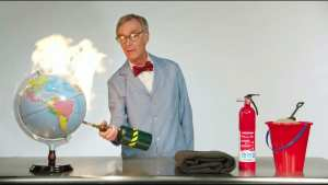 Bill Nye claims the earth is on f*cking fire over global warming