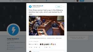 Twitter blames men for Alabama Abortion bill