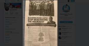 RABBI NYT AD: AOC stop desecrating the Holocaust
