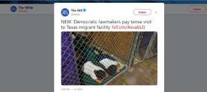 The Hill uses Obama-era photo for article on Dems visit to migrant facilities
