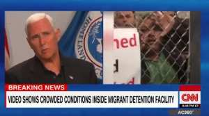 "Pence blasts CNN over ""dishonest"" detention facility  coverage"