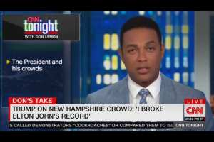 Trump hater Lemon admits: Trump rally crowd beat Elton John's record