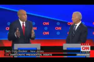 Biden claims that no Dem candidates have punched holes in his record