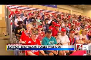 "CBS Raleigh: Trump rally crowd ""believe Trump kept his promise to Middle Class"""