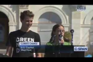 11-Year-Old yells at parents over Climate Change