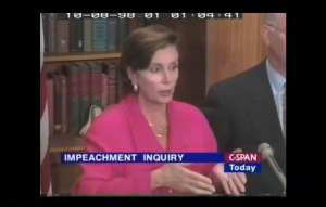 WATCH-1998: Pelosi blasts Republicans for trying to impeach Clinton