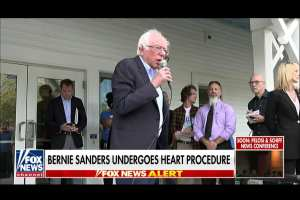 "Bernie Sanders goes in for heart surgery, suspends campaign ""until further notice"""