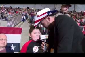 "WATCH: 8-year-old Trump supporter ""excited"" to see Trump speak at rally"
