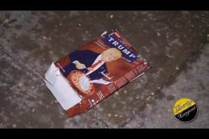 Deranged leftists destroy Trump cereal box