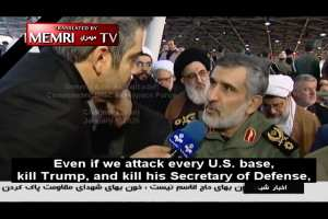 Iranian Military Offical: Attacking all U.S. bases, killing Trump & his Def Secretary wouldn't be enough
