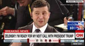 Ukrainian President calls Dem led impeachment a soap opera