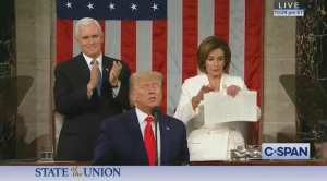 WATCH: Crazy Nancy rips up Trump's SOTU speech