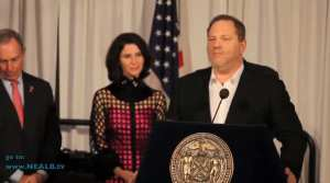 WATCH: Weinstein makes sex joke while thanking Mike Bloomberg