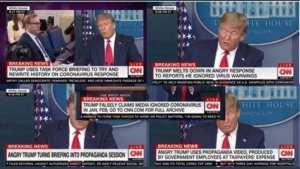 CNN Chyron guy melts down during Trump Chinavirus briefing