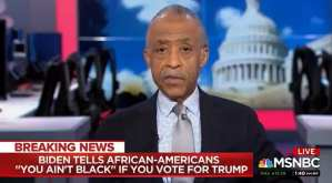 """Al Sharpton calls Biden's black comments """"ludicrous"""" and """"inappropriate"""""""