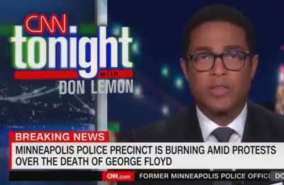 Don Lemon Refuses To Use The Word Rioters While Local Police Station Burns