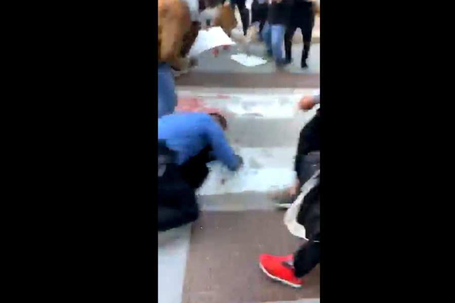 WATCH: Police Officers Dragged Through Chicago Streets