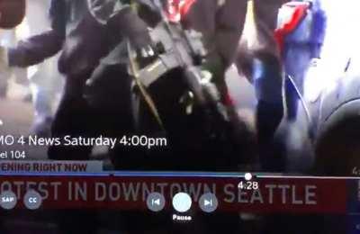 Antifa Member Takes AR-15 From Police SUV, Disarmed Right Away