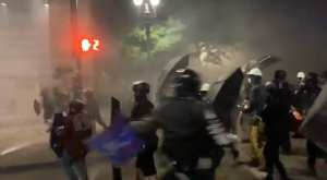 Video Shows That Portland Rioters Have Shields