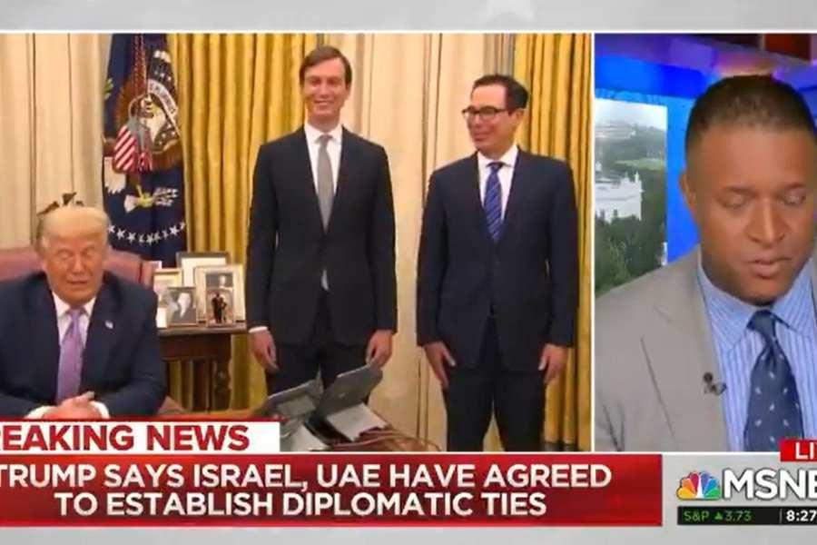 "MSNBC Calls Abraham Accord ""A Diplomatic Breakthrough"""