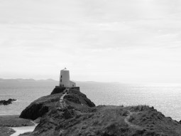 Lighthouse on Ynys Llanddwyn in Wales