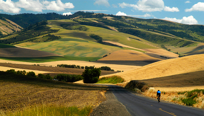 Cycling through the Hills by Gary Hamburgh - All Rights Reserved