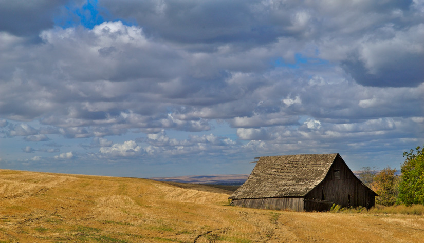 Clouds Gather over Old Barn by Gary Hamburgh - All Rights Reserved