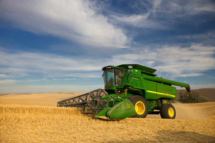 John Deere Combine 1 by Gary Hamburgh - All Rights Reserved