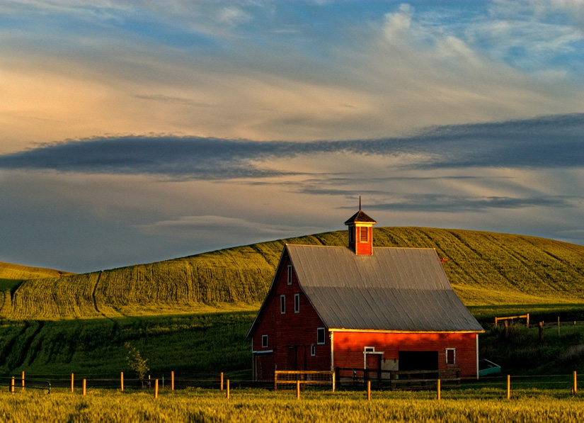 Barn Lit by Morning Light - Copyright Gary Hamburgh 2009 - All Rights Reserved