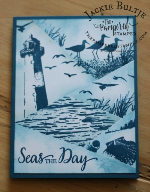 This great retiform technique card uses High Tide and So Many Shells from Stampin'Up.