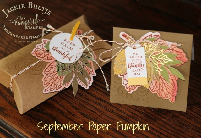 Gold foil leaves, bold but intricate maple leaf stamp, wow!!