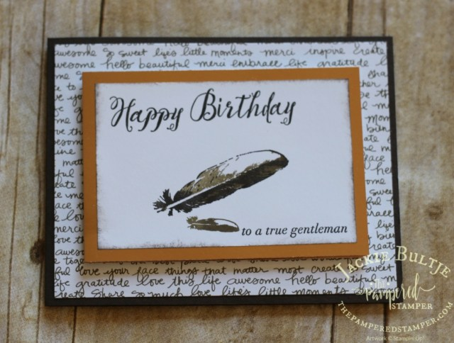 Copper foil paper really sets off the simplicity of this earth toned card.
